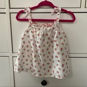 Zara baby strawberry print tank